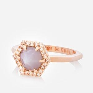 Henri Bendel Luxe Hex Semi-Precious Solitaire Ring
